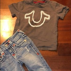3T True religion outfit LIKE NEW Jeans & Top GUC